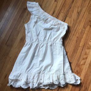 Dresses & Skirts - Cream colored one shoulder dress...Cute!